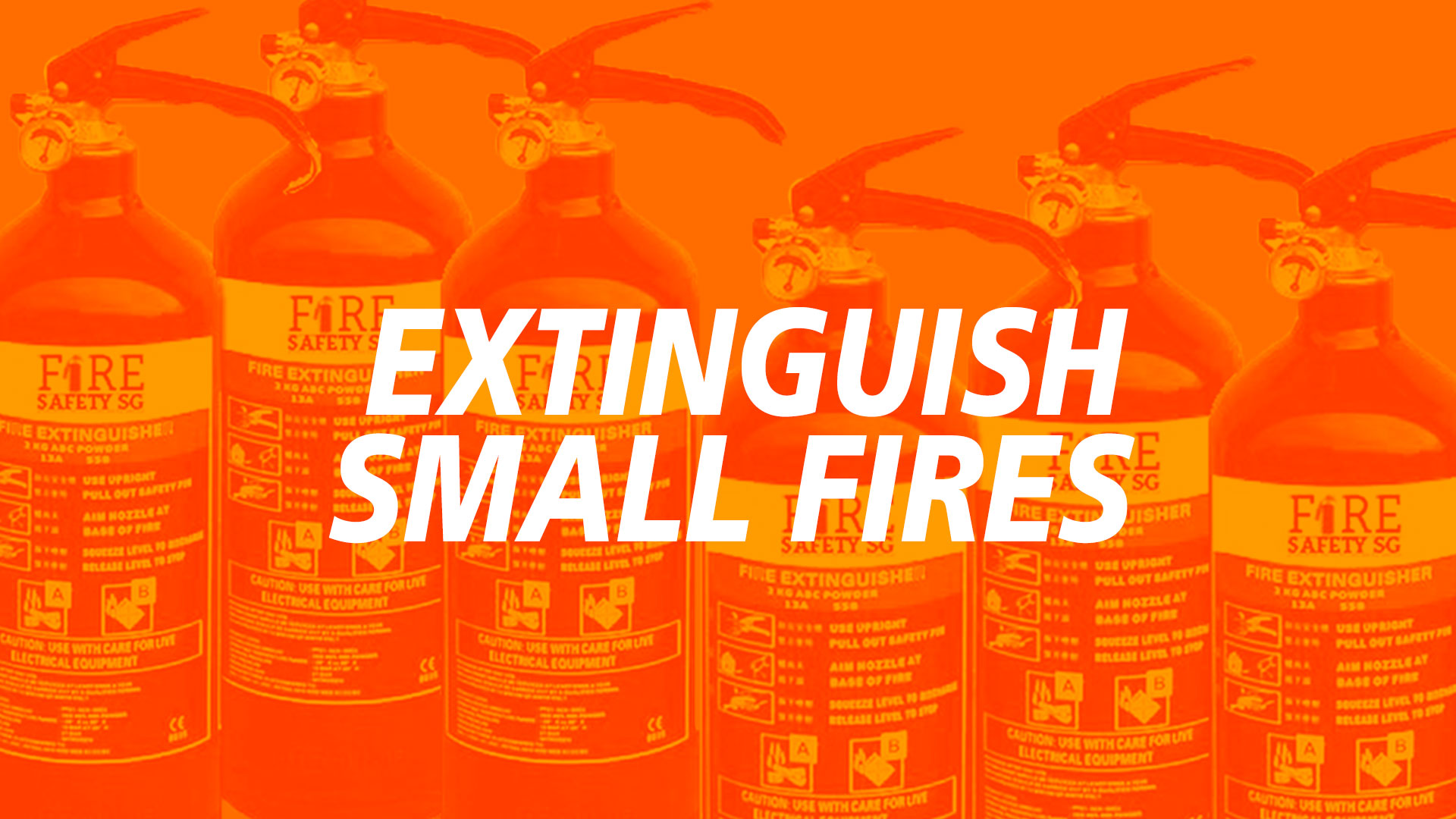 How to extinguish a fire